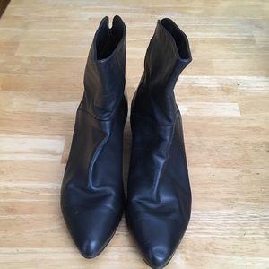 Black booties- genuine leather